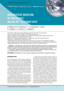 Integrative medicine in oncology